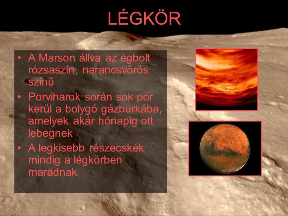 LÉGKÖR A Marson állva az égbolt rózsaszín, narancsvörös színű