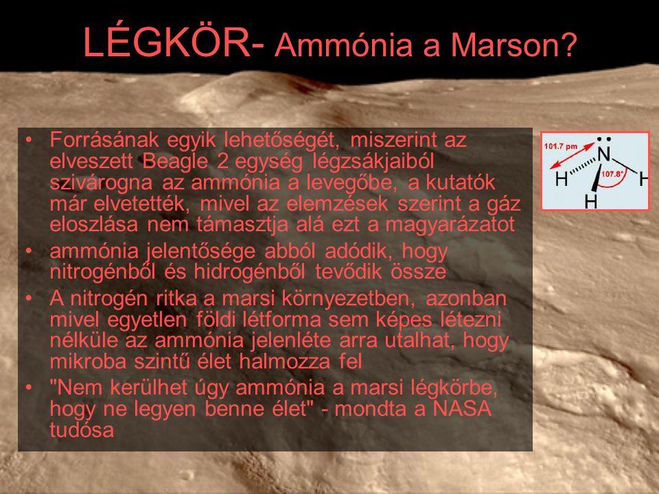 LÉGKÖR- Ammónia a Marson