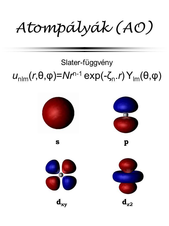 unlm(r,θ,φ)=Nrn-1 exp(-ζn.r) Ylm(θ,φ)