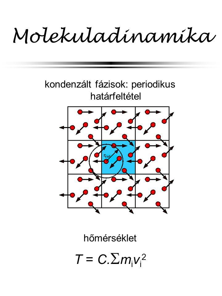 kondenzált fázisok: periodikus határfeltétel
