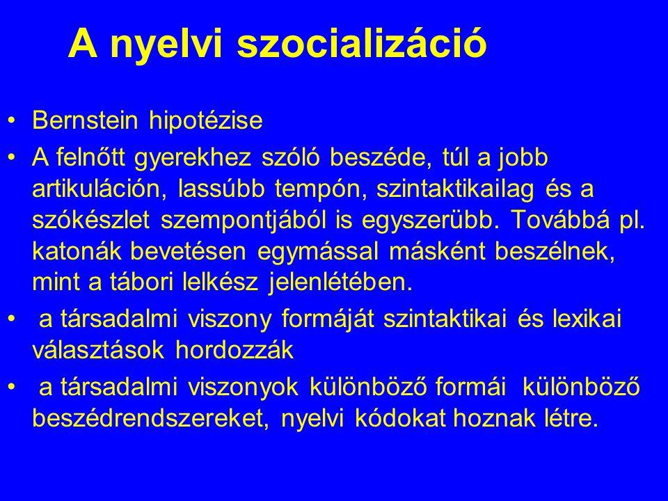 A nyelvi szocializáció