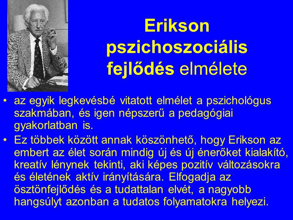 Erikson pszichoszociális fejlődés elmélete