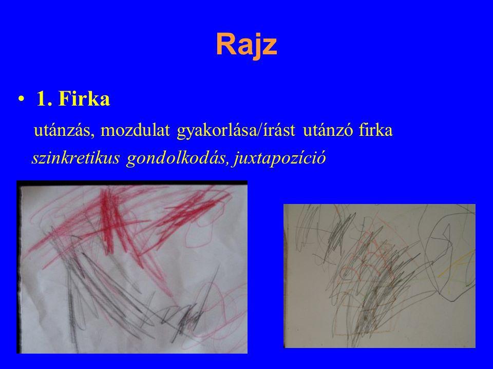Rajz 1. Firka utánzás, mozdulat gyakorlása/írást utánzó firka