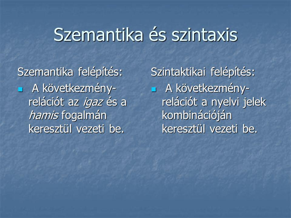 Szemantika és szintaxis
