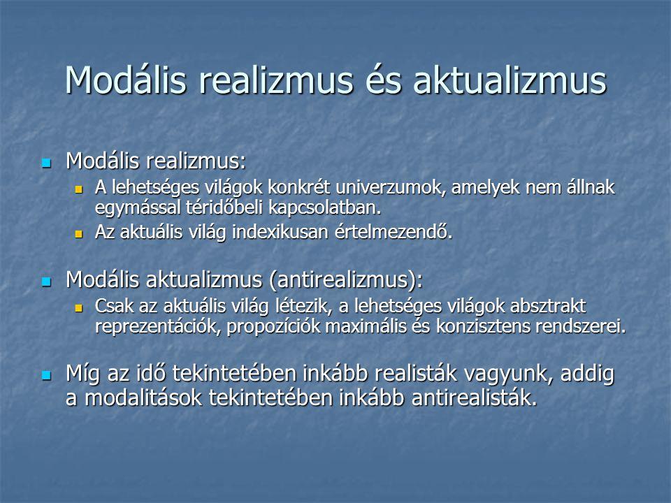 Modális realizmus és aktualizmus