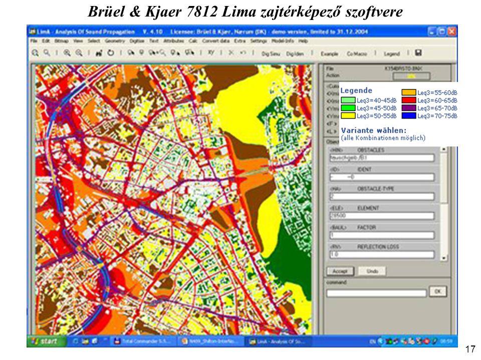 Brüel & Kjaer 7812 Lima zajtérképező szoftvere