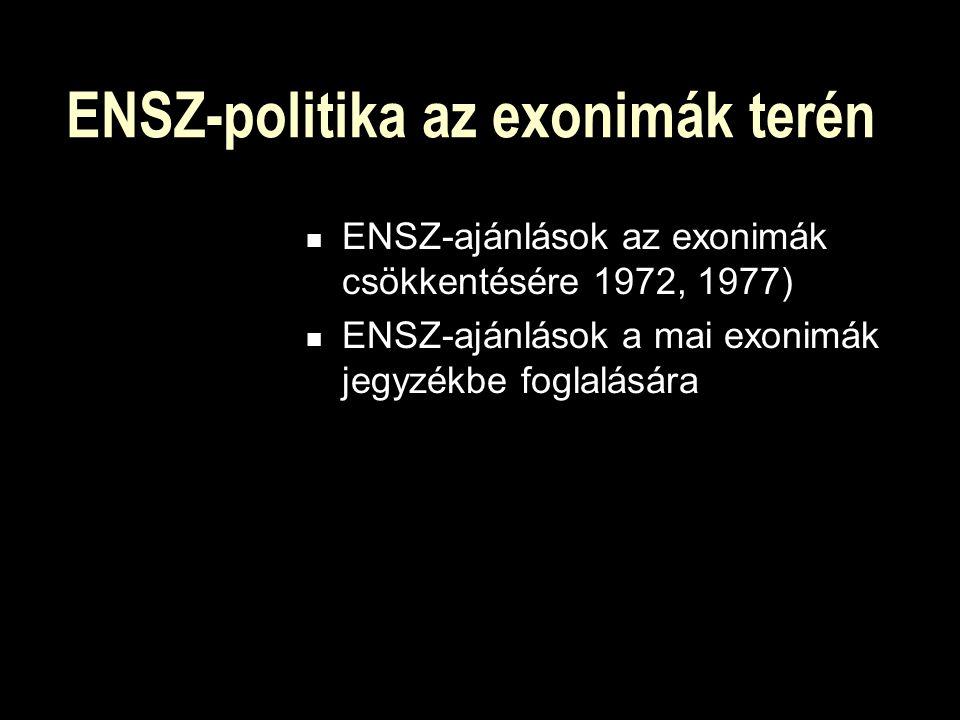 ENSZ-politika az exonimák terén