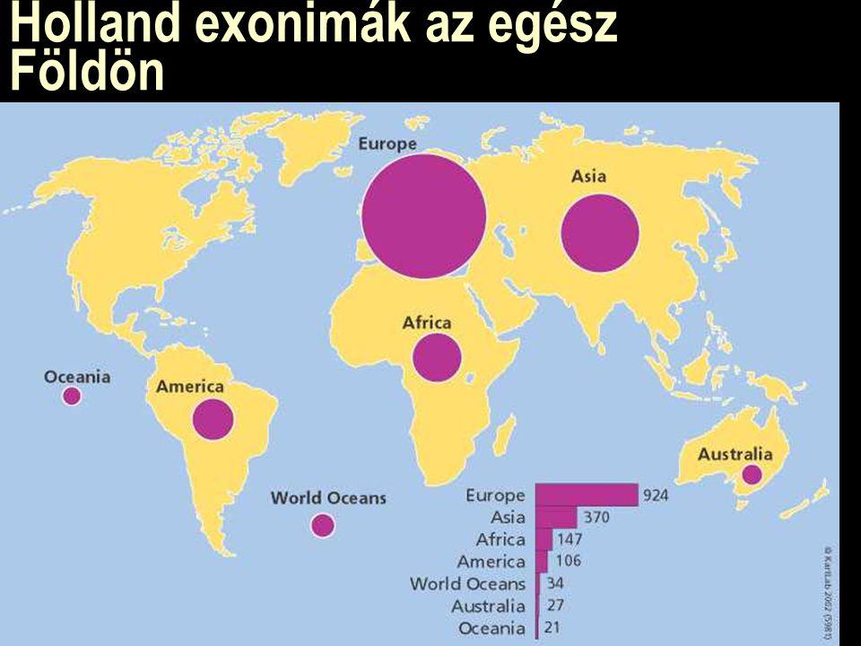 Holland exonimák az egész Földön