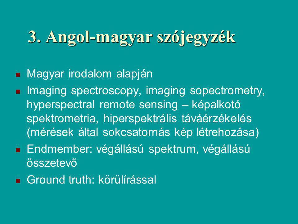 3. Angol-magyar szójegyzék