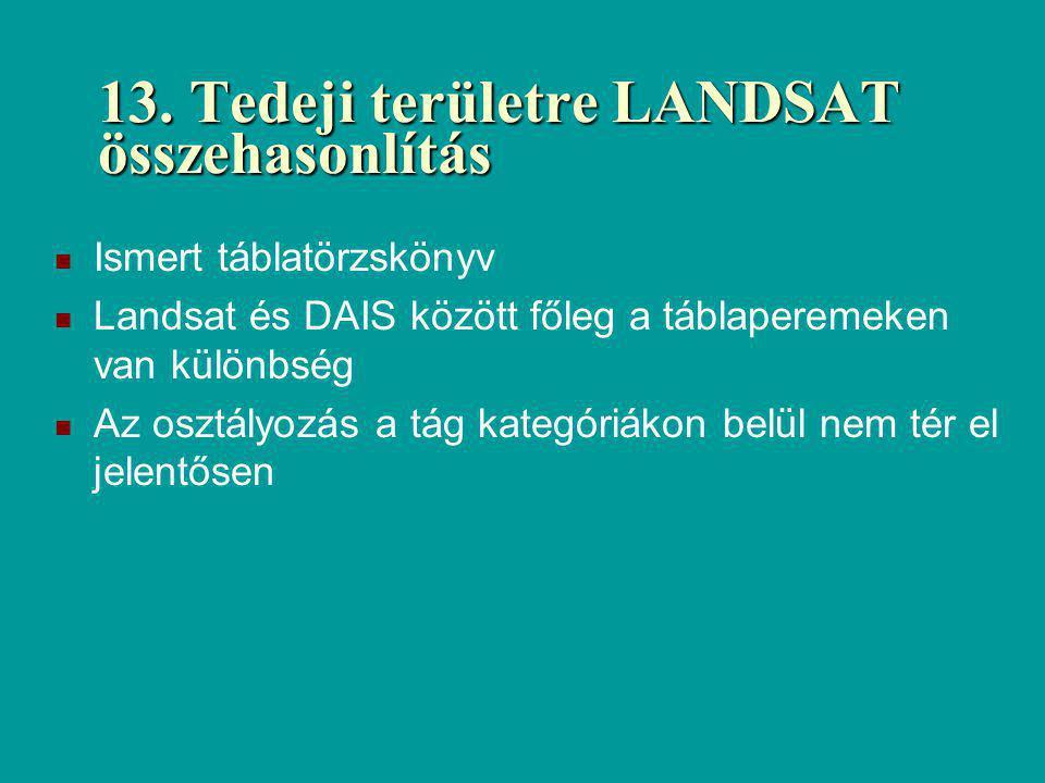13. Tedeji területre LANDSAT összehasonlítás