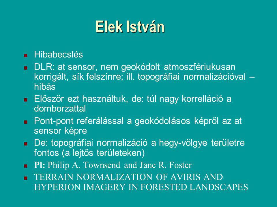Elek István Hibabecslés