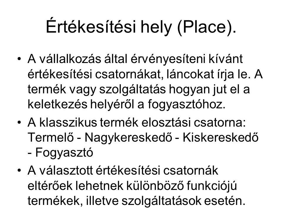 Értékesítési hely (Place).