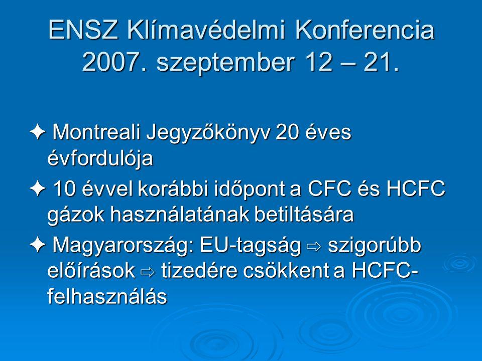 ENSZ Klímavédelmi Konferencia 2007. szeptember 12 – 21.