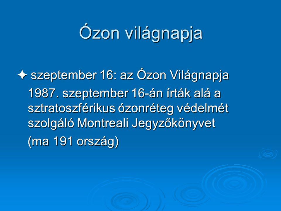 Ózon világnapja ✦ szeptember 16: az Ózon Világnapja