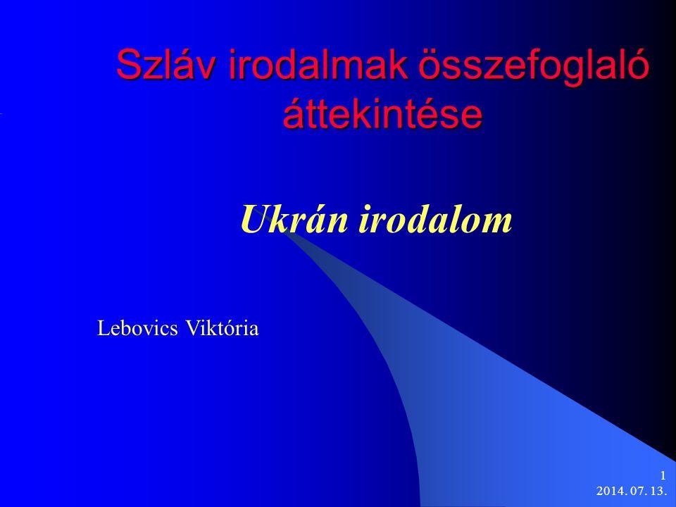 Szláv irodalmak összefoglaló áttekintése