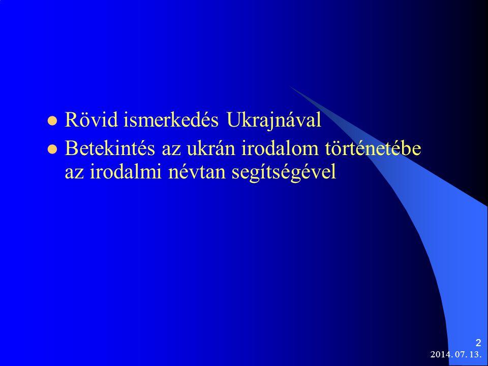Rövid ismerkedés Ukrajnával