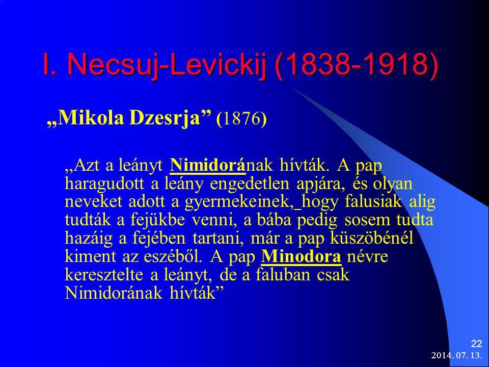 """I. Necsuj-Levickij (1838-1918) """"Mikola Dzesrja (1876)"""