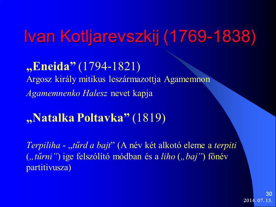 Ivan Kotljarevszkij (1769-1838)