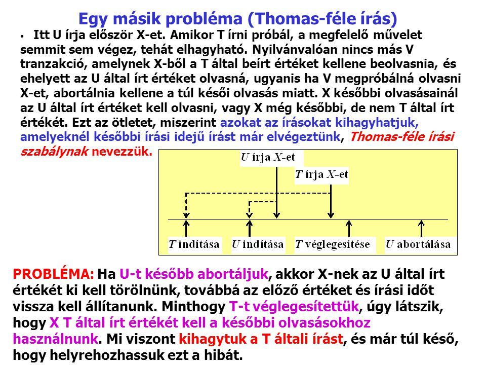 Egy másik probléma (Thomas-féle írás)
