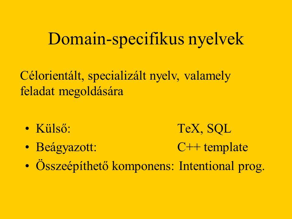 Domain-specifikus nyelvek