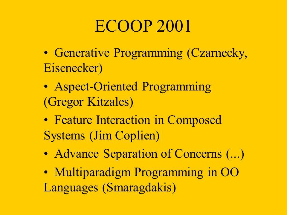 ECOOP 2001 Generative Programming (Czarnecky, Eisenecker)