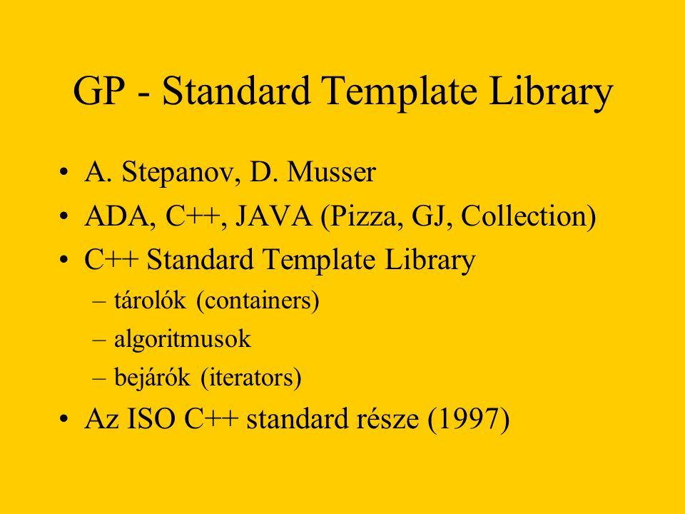 GP - Standard Template Library