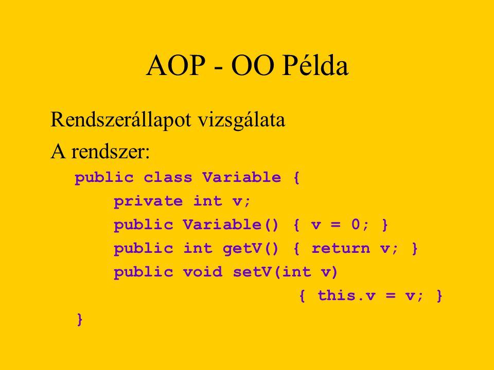 AOP - OO Példa Rendszerállapot vizsgálata A rendszer: