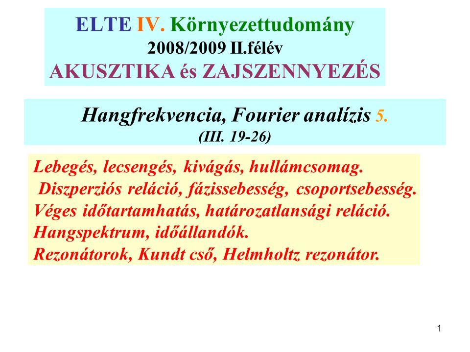 Hangfrekvencia, Fourier analízis 5.