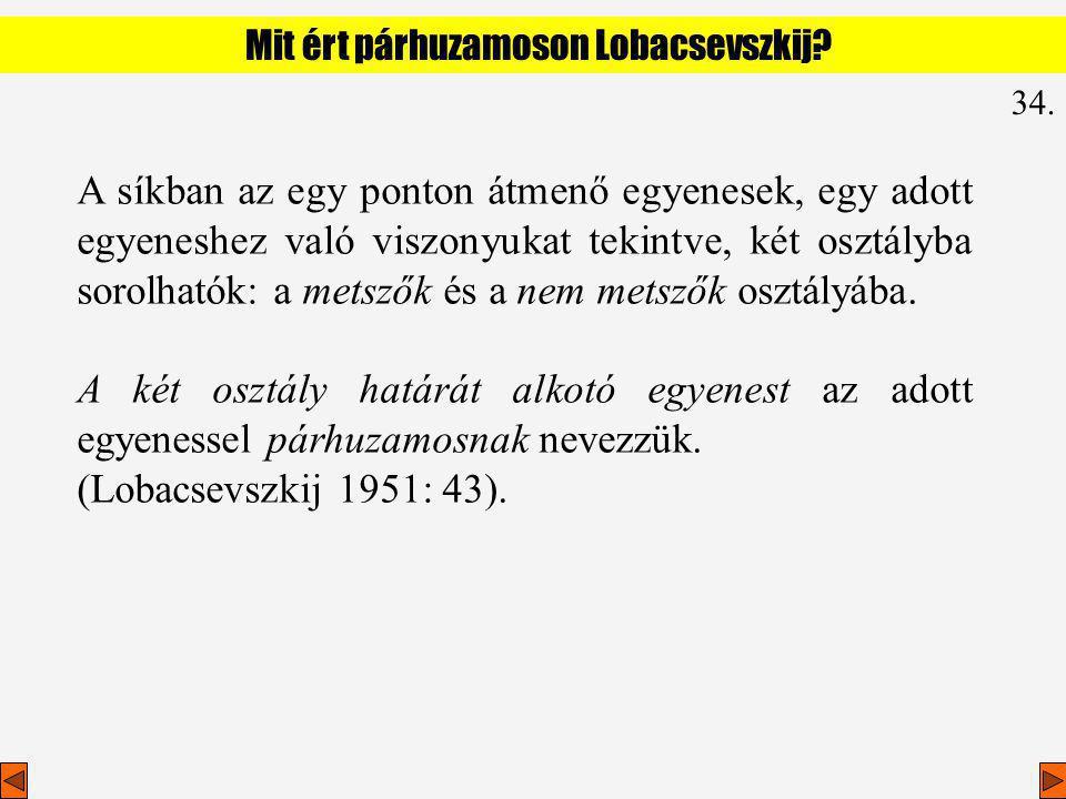 Mit ért párhuzamoson Lobacsevszkij
