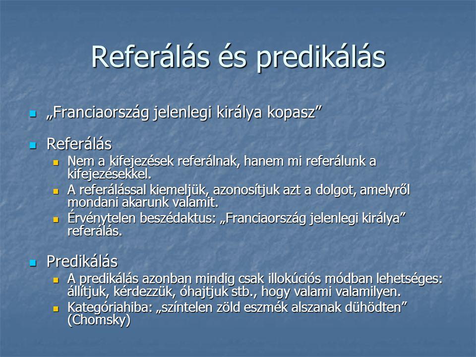 Referálás és predikálás