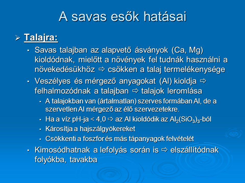 A savas esők hatásai Talajra: