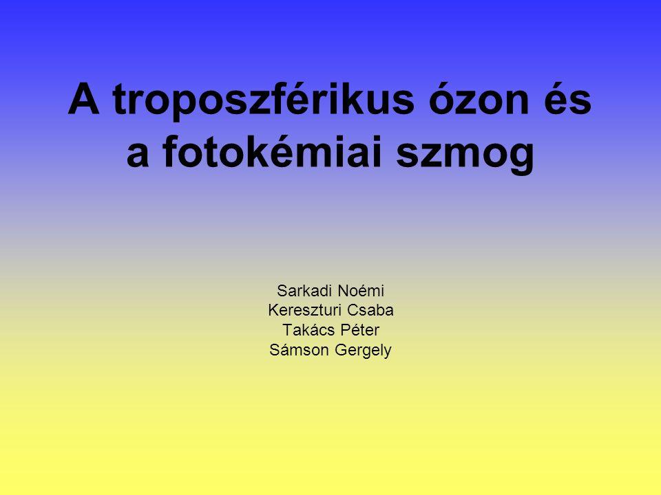 A troposzférikus ózon és a fotokémiai szmog