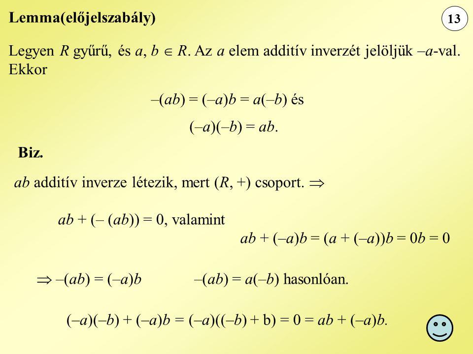 Lemma(előjelszabály)