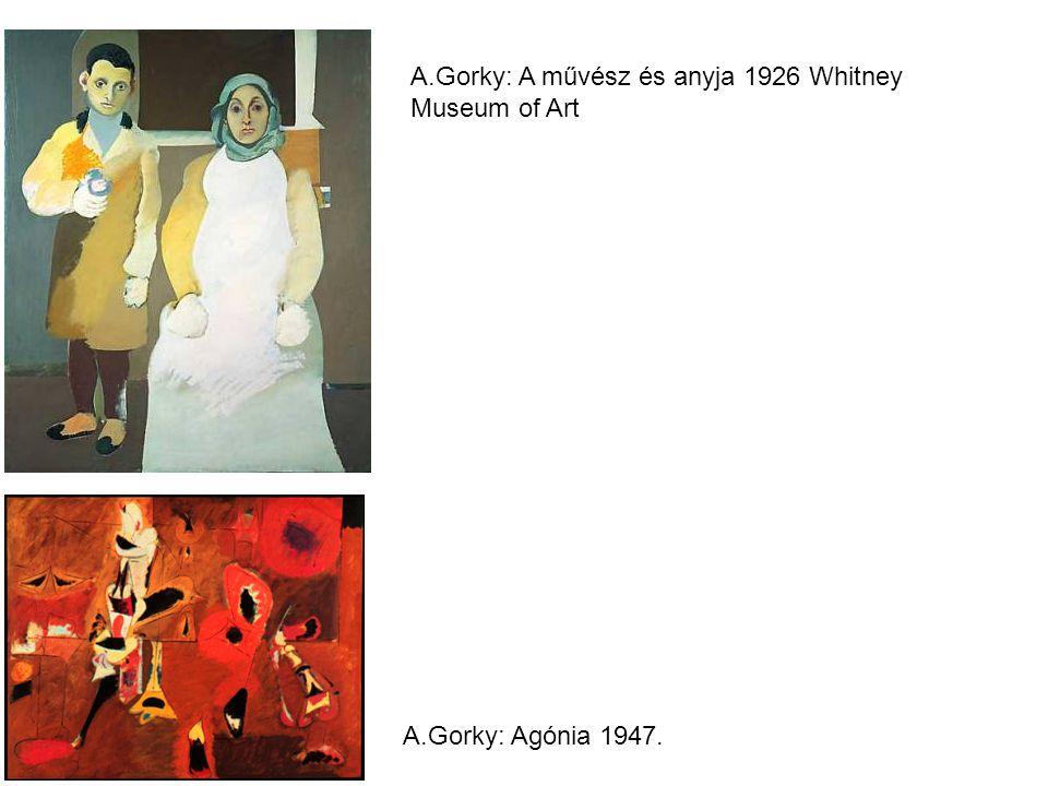 A.Gorky: A művész és anyja 1926 Whitney Museum of Art