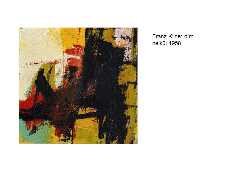 Franz Kline: cím nélkül 1958