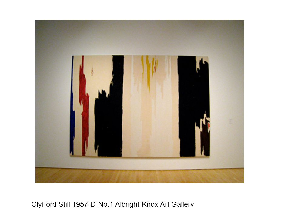 Clyfford Still 1957-D No.1 Albright Knox Art Gallery