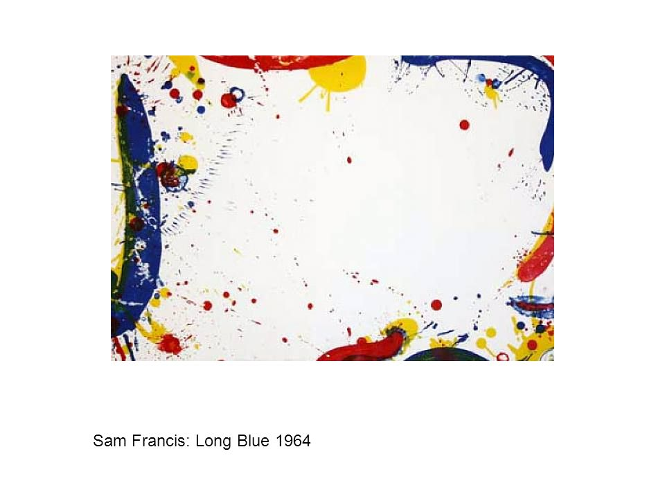 Sam Francis: Long Blue 1964