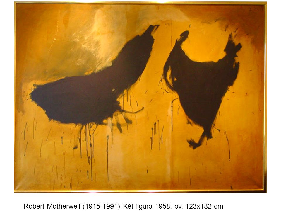 Robert Motherwell (1915-1991) Két figura 1958. ov. 123x182 cm