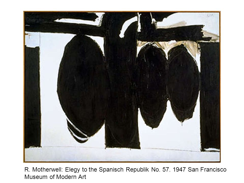 R. Motherwell: Elegy to the Spanisch Republik No. 57