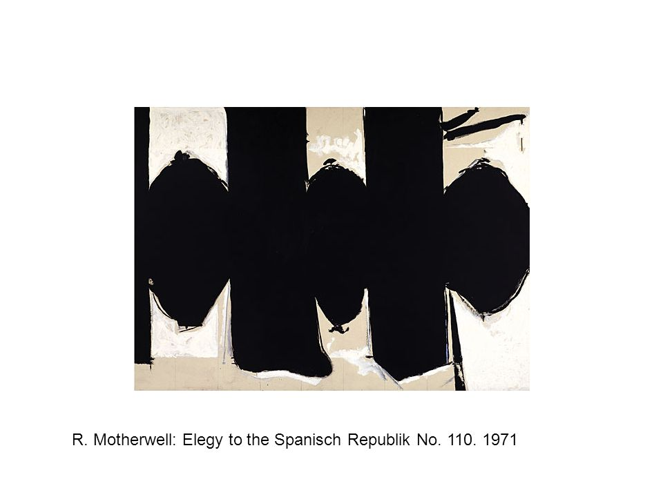 R. Motherwell: Elegy to the Spanisch Republik No. 110. 1971