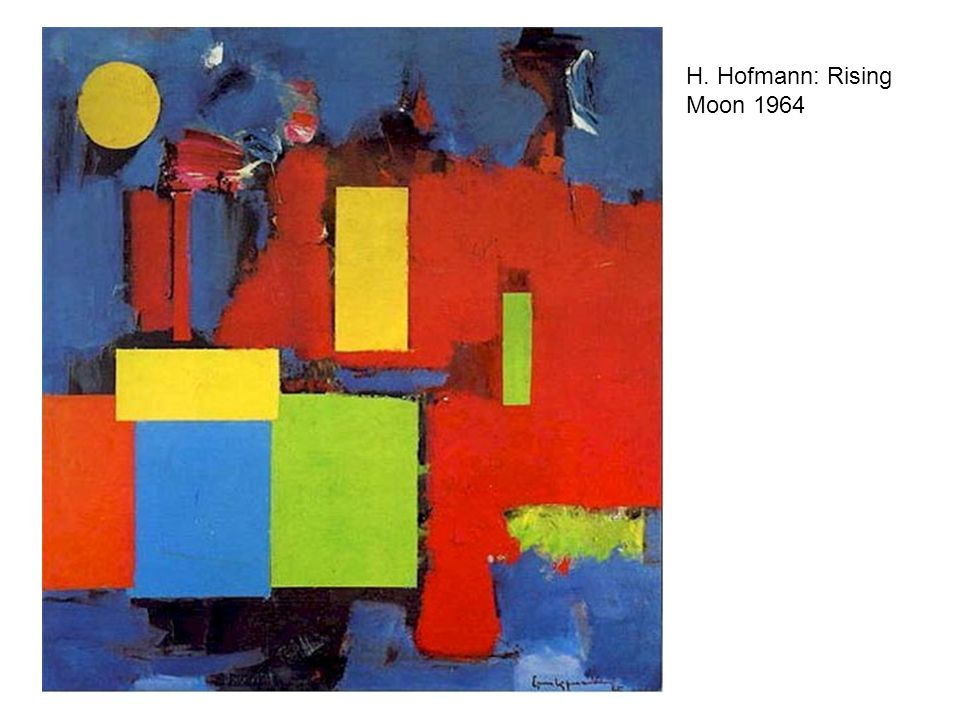 H. Hofmann: Rising Moon 1964