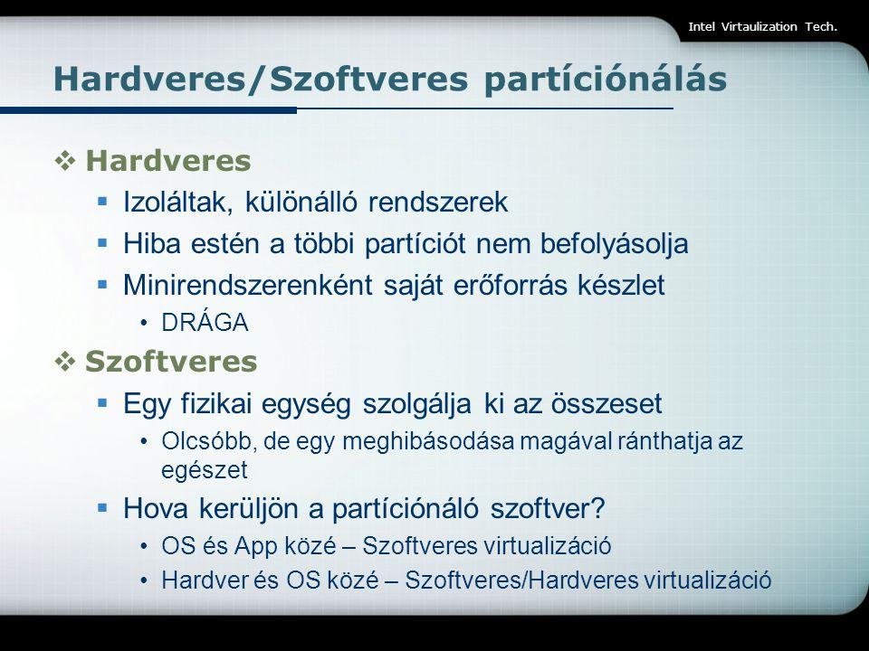 Hardveres/Szoftveres partíciónálás