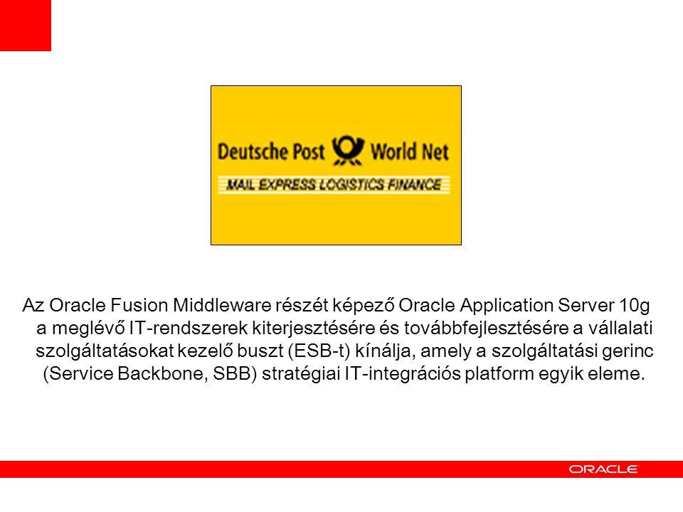 Az Oracle Fusion Middleware részét képező Oracle Application Server 10g a meglévő IT-rendszerek kiterjesztésére és továbbfejlesztésére a vállalati szolgáltatásokat kezelő buszt (ESB-t) kínálja, amely a szolgáltatási gerinc (Service Backbone, SBB) stratégiai IT-integrációs platform egyik eleme.