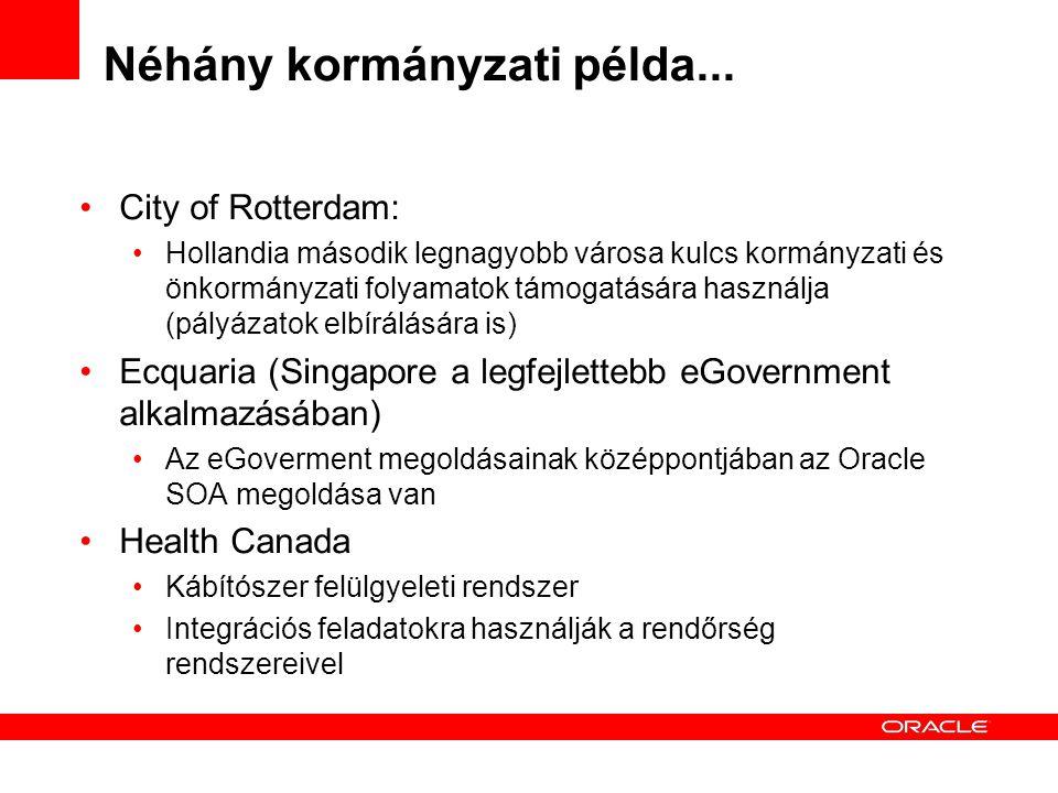 Néhány kormányzati példa...