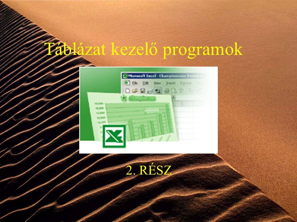 Táblázat kezelő programok