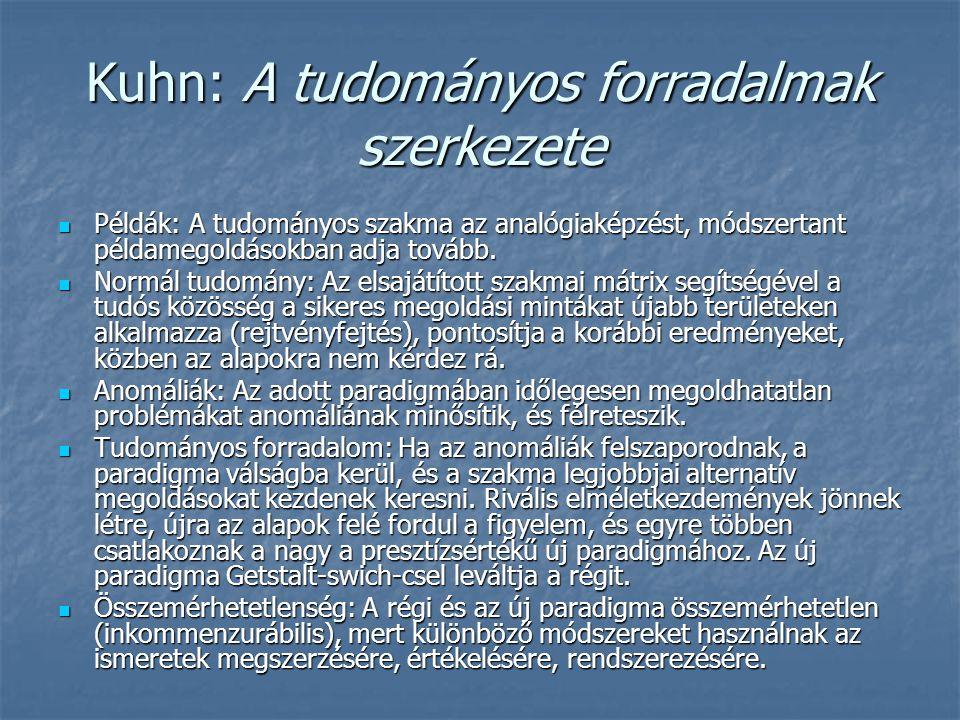 Kuhn: A tudományos forradalmak szerkezete