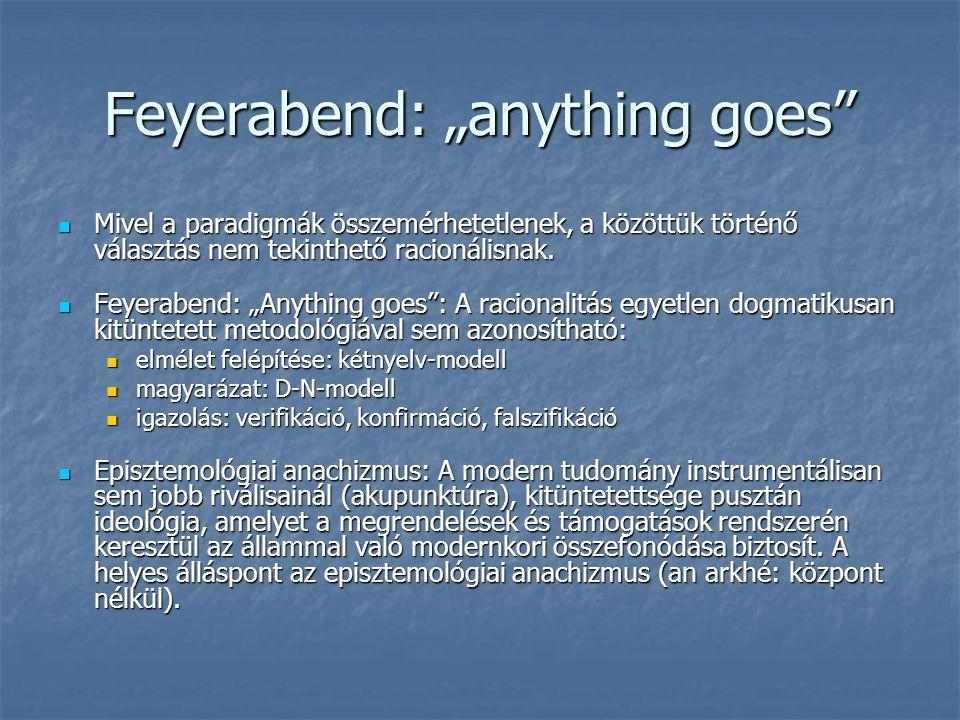 "Feyerabend: ""anything goes"