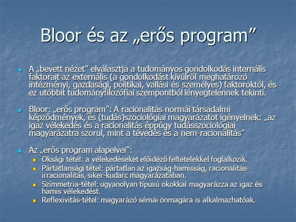 """Bloor és az """"erős program"""