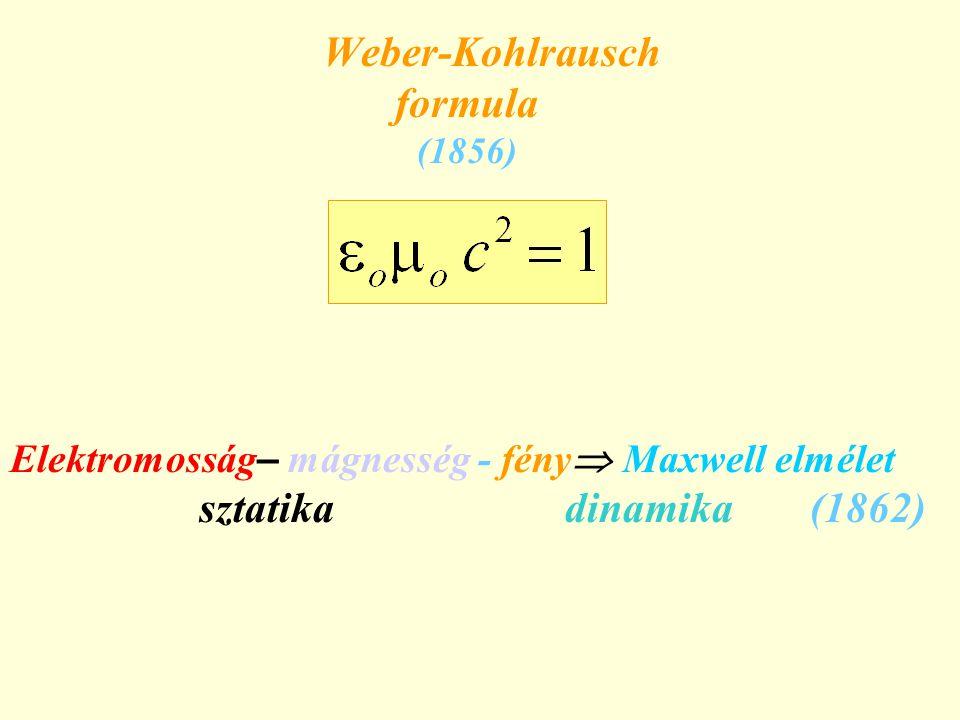 Weber-Kohlrausch formula (1856)
