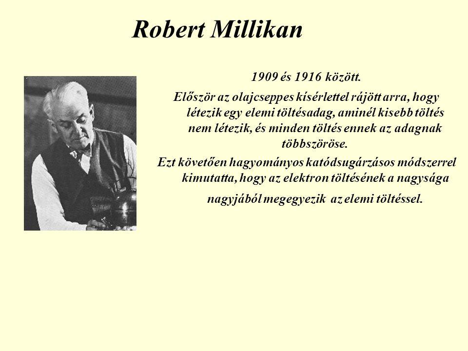 Robert Millikan 1909 és 1916 között.